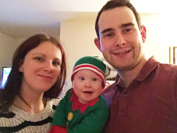 Nichola McSherry and Michael Walker with son Euan who was born prematurely