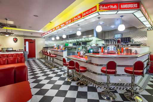 How the new diner will look and at the launch of the diner in Glasgow