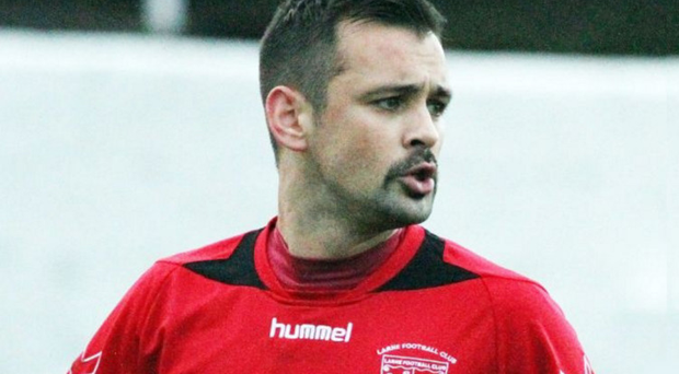 Larne midfielder Scott Irvine suffered a fractured skull after colliding with a perimeter wall in a game against Carrick