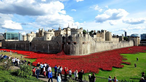 The Tower of London was home to the Blood Swept Lands And Seas Of Red exhibition