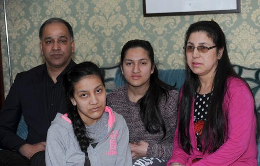 The Chudal family (from left) Bikash, Priyanka, Priya and Jayanti, who lost loved ones in the earthquake in Nepal