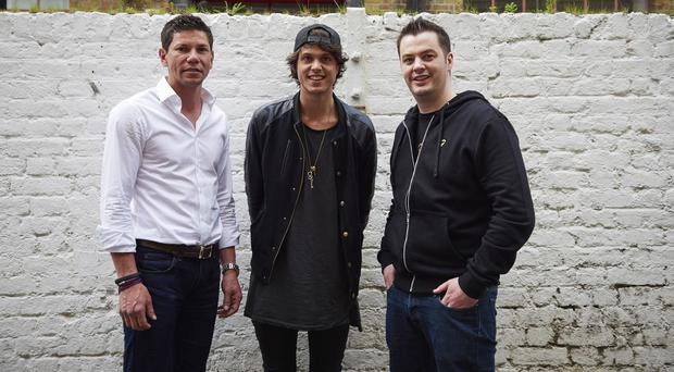 Chief digital and data officer Ben Silcox, of Havas helia, joins Ministry of Sound's resident DJ Sheldon, centre, and Chris Johnston, CEO of Adoreboard, right (Mark Arrigo/PA)
