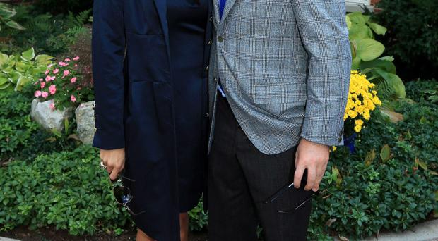 Graeme McDowell with his US wife Kristin Stape