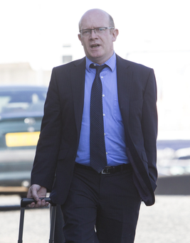 Pharmacist Maurice Currie arrives at Newry court yesterday