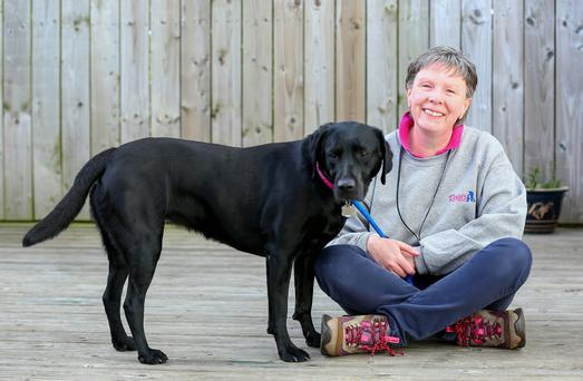 Charity founder Bronagh O'Neill with her four-legged companion Daisy