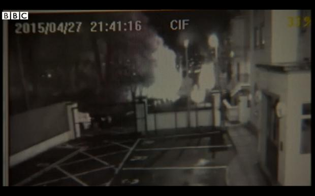 CCTV footage of the bomb exploding