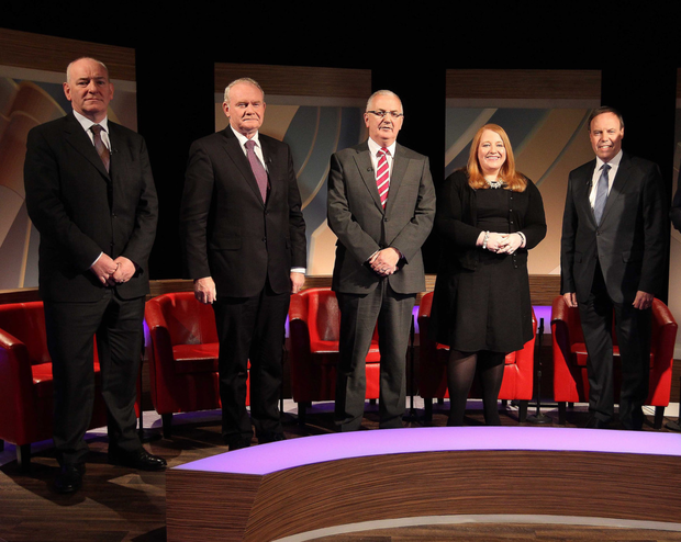 Candidates in the UTV studio