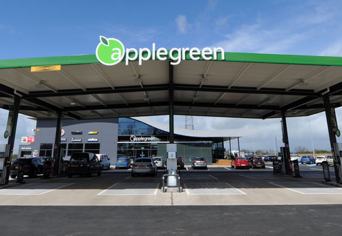 Applegreen Service Station on the M2 motorway