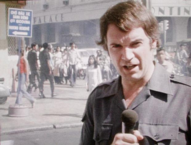 Don Anderson reporting for the BBC in 1975