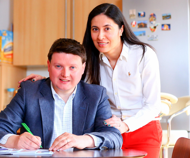 UUP candidate Rodney McCune with his wife Firuza at their home in Belfast