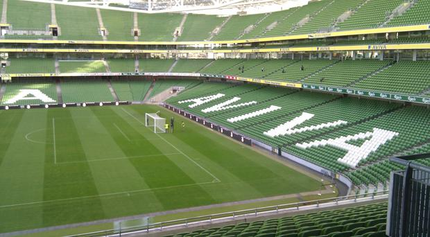 The Aviva Stadium in Dublin