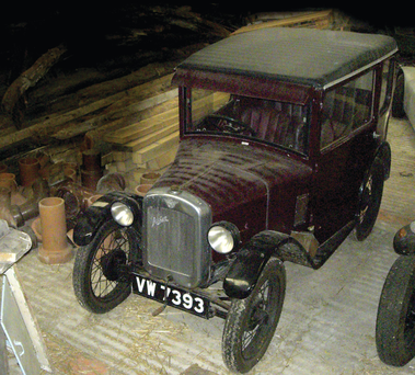One of the vintage cars in storage at the museum