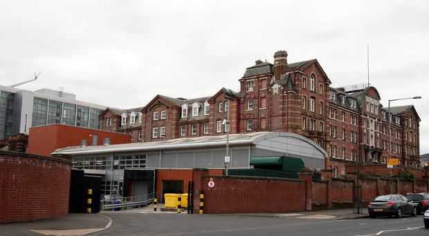The patient was treated in the Royal Victoria Hospital