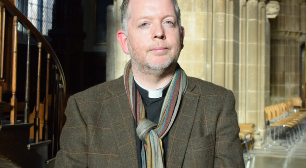 The Very Reverend David Monteith, Dean of Leicester Cathedral. 'People remember me as that vicar who always wears a scarf.'