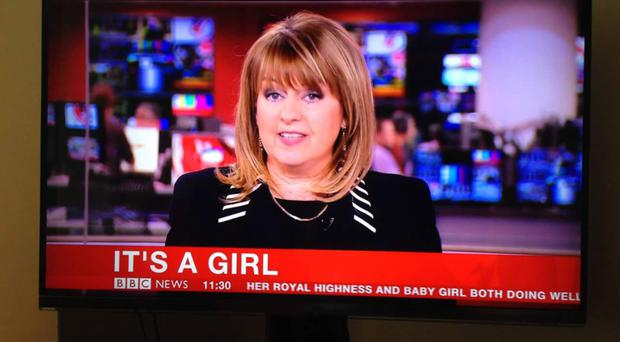 Maxine breaking the news of the royal birth on the BBC on Saturday