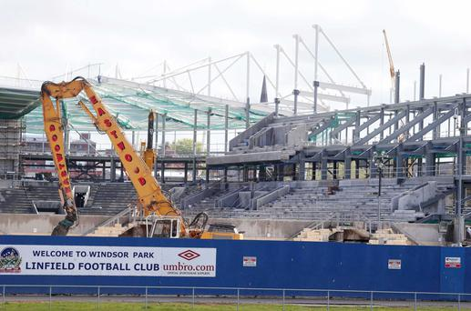 Demolition of the West Stand at Windsor Park is near completion after structural damage was found