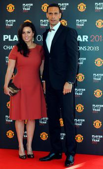 Rio Ferdinand with wife Rebecca Ellison