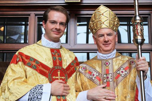 Fr Andrew Black was ordained to the priesthood by Bishop Noel Treanor in St Columcille's Church, Holywood, on Sunday