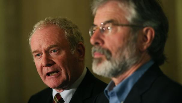 Martin McGuinness and Gerry Adams have been targeted ahead of the election