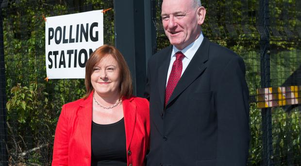Mark Durkan with his wife Jacqui