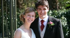 Alison and Ross Collins were married at Trinity Presbyterian Church, Boardmills
