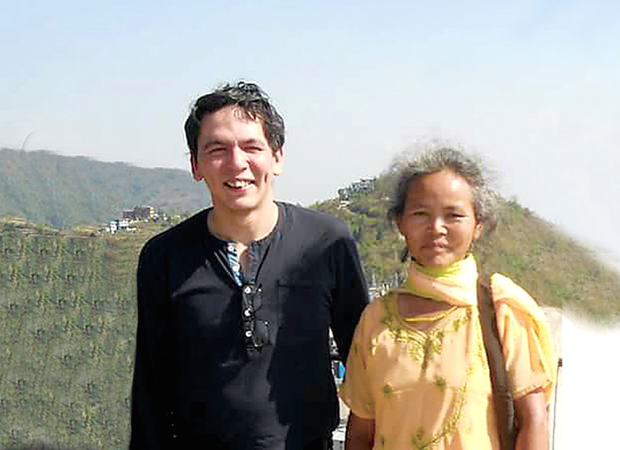 John Hodge with his mother Maile in Nepal last month
