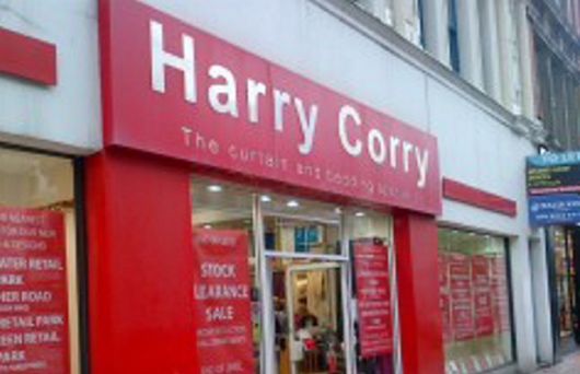 Not closing: A Harry Corry shop