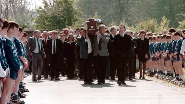 The funeral of Sean Brown, who was abducterd in Bellaghy, Co Londonderry