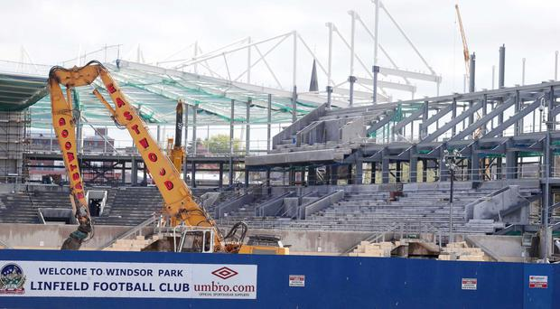Windsor Park is being redeveloped at minute, now that work will have to include a new West Stand