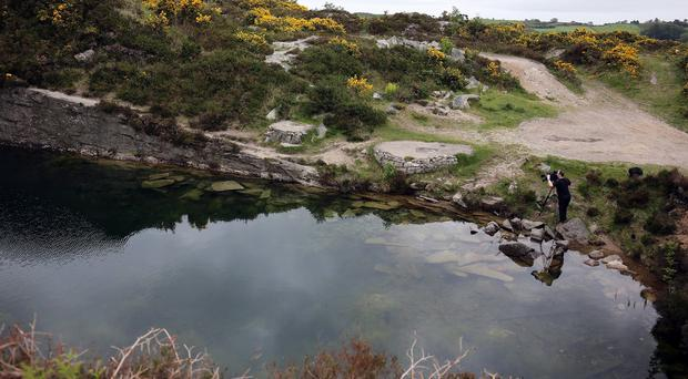 The disused quarry in rural Co Down where Colin Polland died in a bid to save Kevin O'Hare