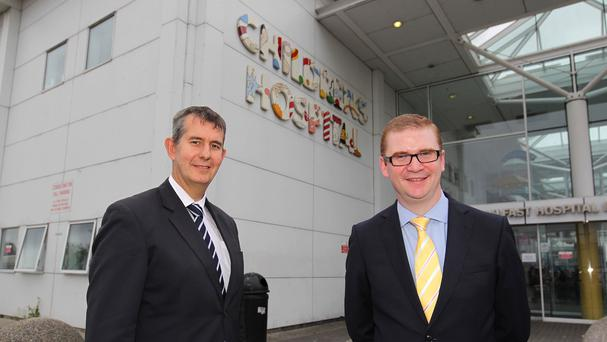 Simon Hamilton (right) and Edwin Poots (left) have been at the centre of controversy over the issue of blood donations