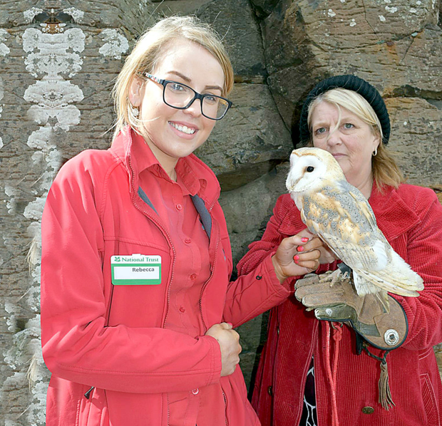 Patricia O'Callaghan and Terry Turkington are reunited with barn owl Arya