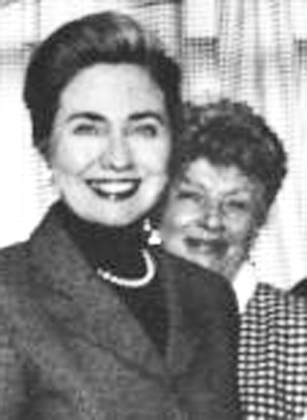 Marie (right) with Hillary Clinton