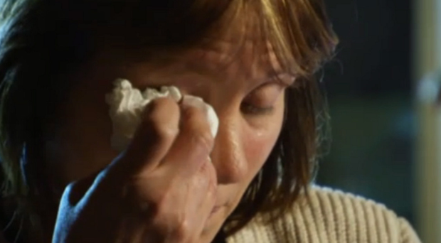 A tearful Jenny Palmer tells her story on BBC Spotlight