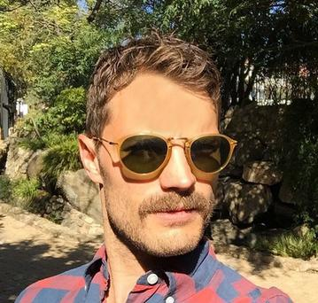 Jamie Dornan shows his new moustache on Instagram
