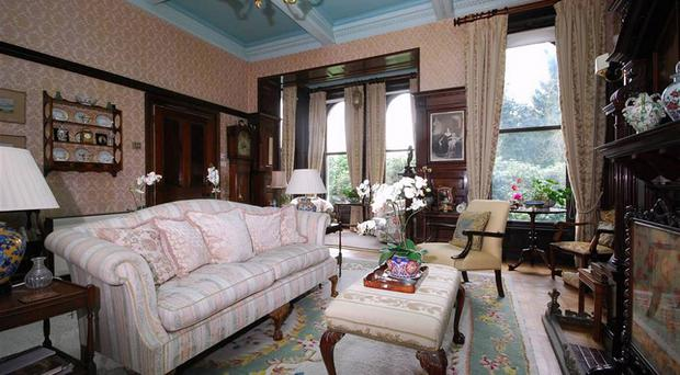 The interior of the apartment with its magnificent woodwork