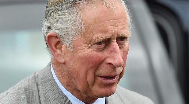 The Prince of Wales, during a visit to St Patrick's Church, in Belfast, Northern Ireland.
