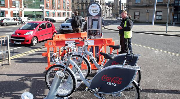 Belfast Bikes were launched to great fanfare only last month