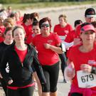 Some of the 1,350 women who took part in yesterday's Belfast Telegraph Runher Coastal Challenge, this year featuring a 10K challenge in addition to the usual 5K event