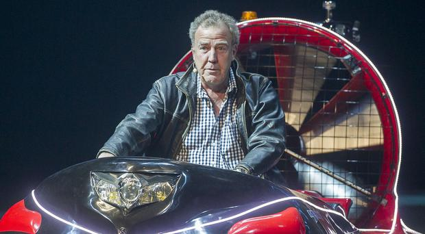 Jeremy Clarkson during the opening night of Clarkson, Hammond and May Live at the Odyssey Arena in Belfast
