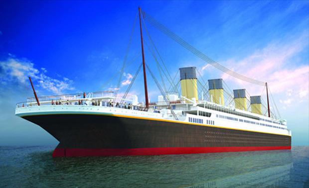 An artist's impression of the new Titanic ship to be built in China