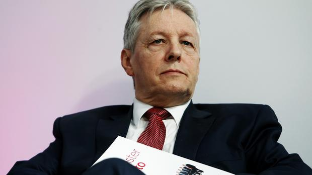 Northern Ireland First Minister Peter Robinson has been taken to hospital