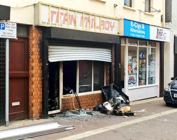 The Northern Lights shop was gutted during the second arson attack on it in a month