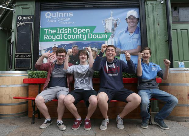 Driving force: Local fans get used the Irish Open coming to the town