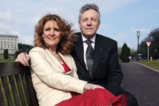 Peter Robinson with his wife Iris in 2009
