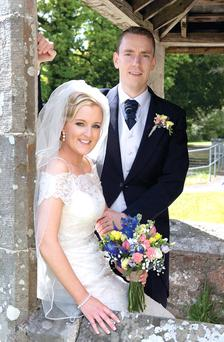 Shane and Leanne Tohill (maiden name McNulty) on their wedding day