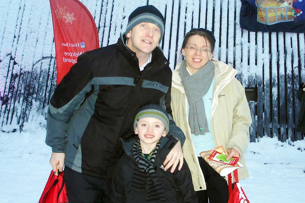 The Anderson family on a skiing holiday