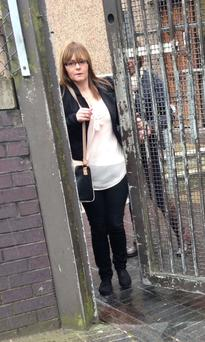 Kelly Ann Wilson leaving Ballymena court yesterday