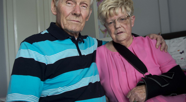 Betty young with her husband Oliver at her Lower Shankill Road home