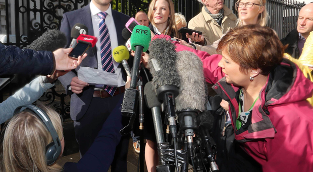 Daniel and Amy McArthur speaking to the media outside court on the day a judge convicted their company of discrimination